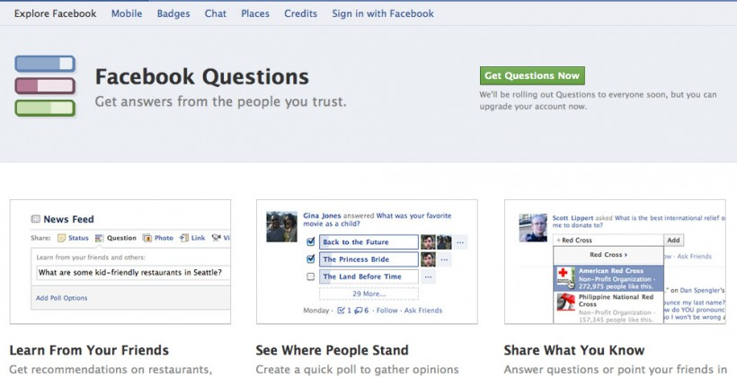 Facebook Questions Lets You Ask And Answer Almost Everyone On Facebook