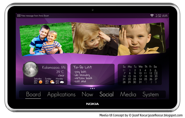 MeeGo OS Concept For Tablets