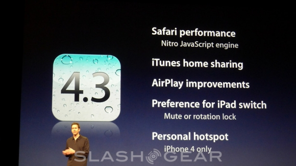 Apple iOS 4.3 drops today at 10AM PT?