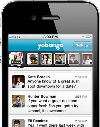 Yobongo location-based chat now available in App Store