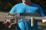 Geek makes slingshot that shoots machetes