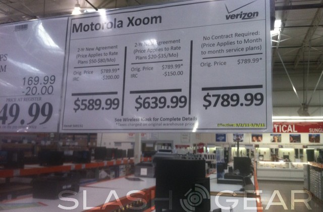 Motorola XOOM Spotted At Sam's Club And Costco, Who Wins On Price?