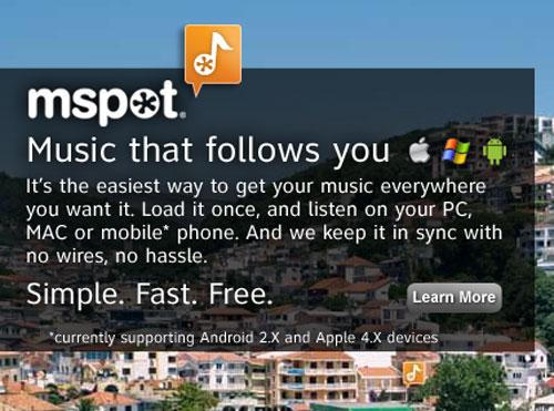 mSpot Music adds 5GB of online storage
