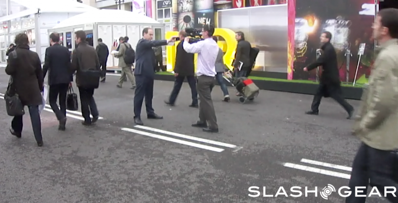 Odd British Man Totes Mobile in Barcelona [EXCLUSIVE]