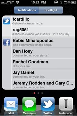 Apple iOS Notification System Redesign Idea