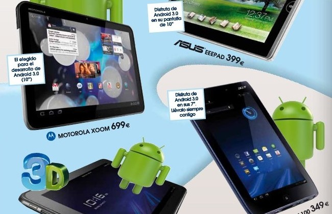 Optimus Pad, Iconia Tab and Eee Pad priced; Euro retailer lists HP Opal