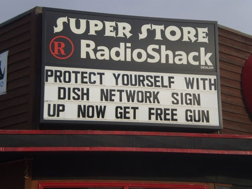 Montana Radio Shack offers free gun with Dish Network purchase