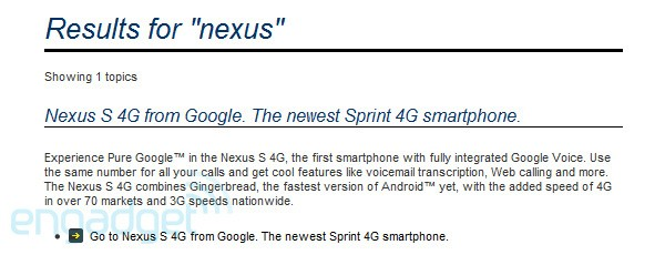 "Sprint tease Nexus S 4G with WiMAX and ""fully integrated"" Google Voice"