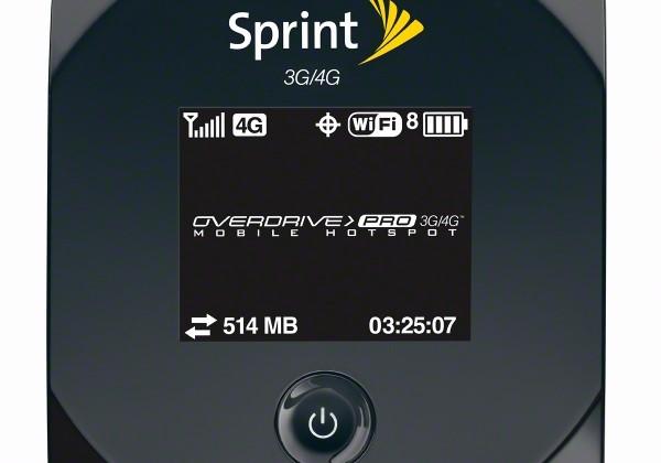 Sprint Overdrive Pro 3G/4G hotspot due March 20
