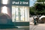 Lines form for iPad2 in Texas