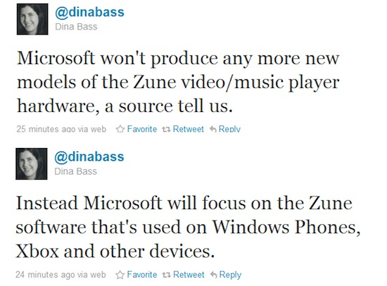 Microsoft May Finally Kill Zune?