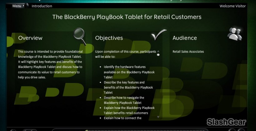 BlackBerry PlayBook Sales Manual Leaked