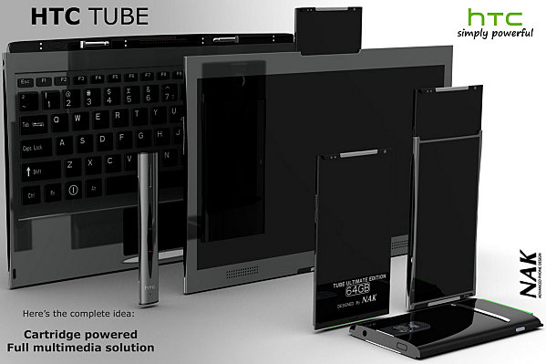 HTC Tube Concept Design: Phone, Tablet, Notebook