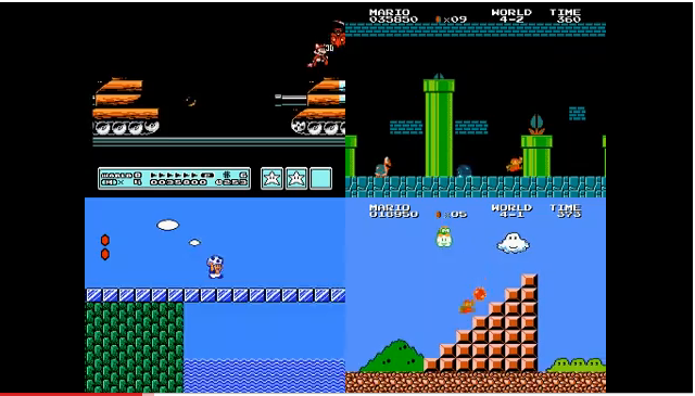 Mario 3, 1, 2, and 1