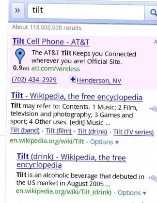 Search for Tilt in Google