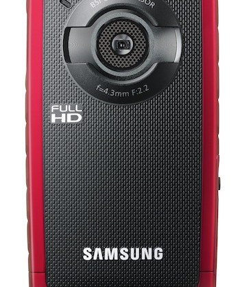Samsung HMX-W200 rugged Full HD camcorder didn't get the Flip memo
