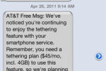 AT&T warns unofficial tethering will auto-trigger $25 extra fee