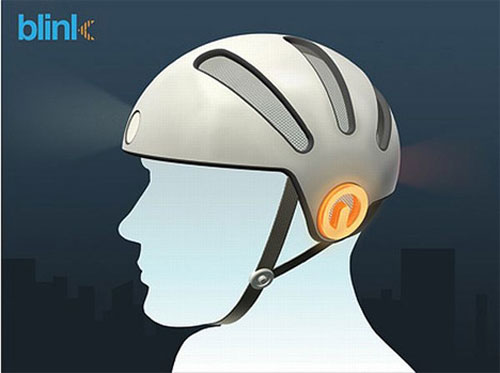 Blink Bike Helmet gives cyclists blinkers on their head