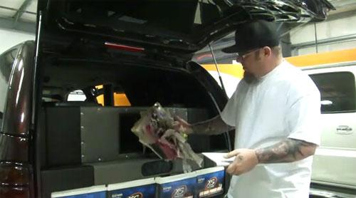 Car audio system blows phone book apart
