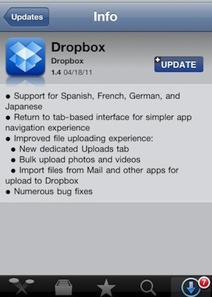 Dropbox Hits 25 Million Users, Updates iOS App