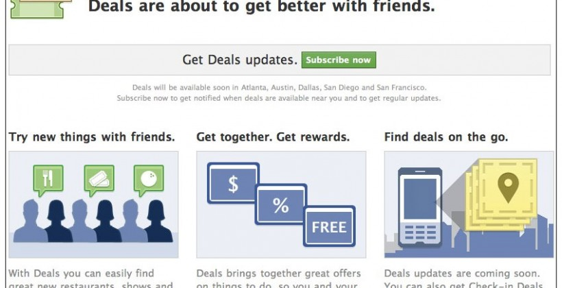 Facebook Deals is a Groupon rival