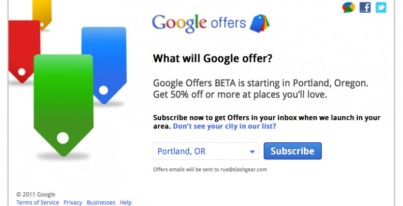 Google Rolls Out Groupon Competition With 'Google Offers' Beta Launch In Select Cities