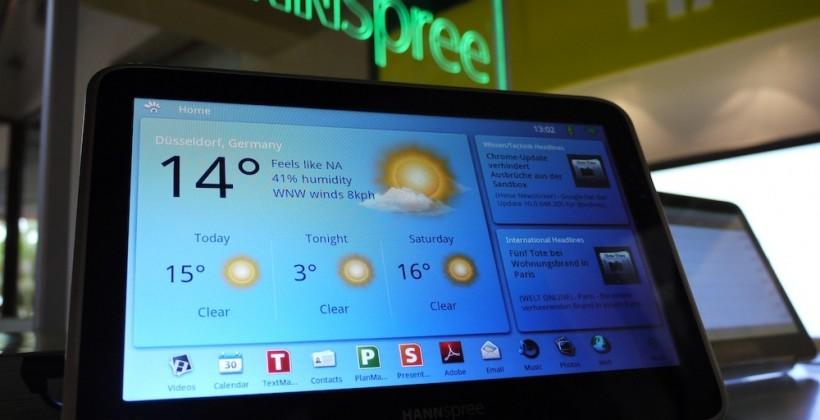 Hannspree SN10T1 tablet hands-on [Video]
