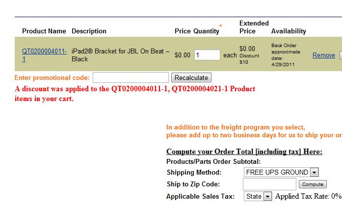 iPad 2, HARMAN OnBeat, Upgrade Bracket Free Promo Code