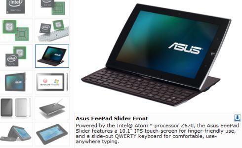 Intel tips Atom Z670 ASUS Eee Pad Slider version