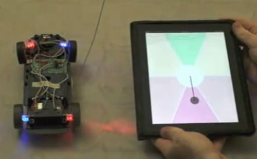 Remote controlled car controlled by Kinect or iPad
