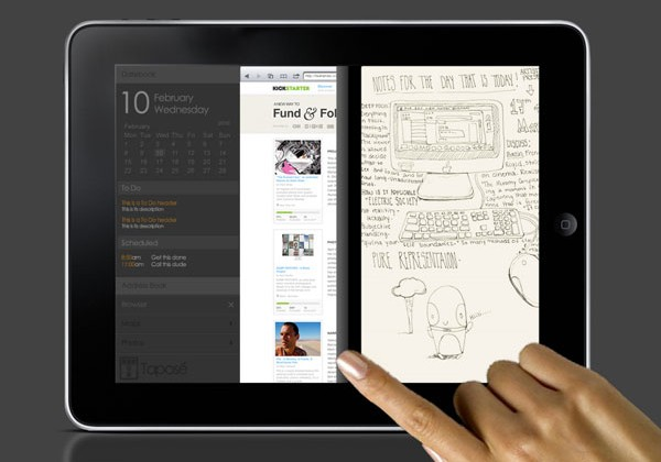 Microsoft Courier style comes to tablets with Tapose app
