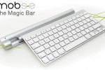 Mobee The Magic Bar charges your Apple BT Keyboard and Magic Trackpad