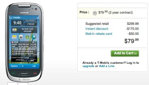 T-Mobile Nokia Astound on sale now: $80 Symbian^3