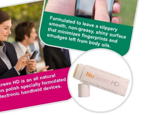 NuScreen HD prevents smudges on touchscreens