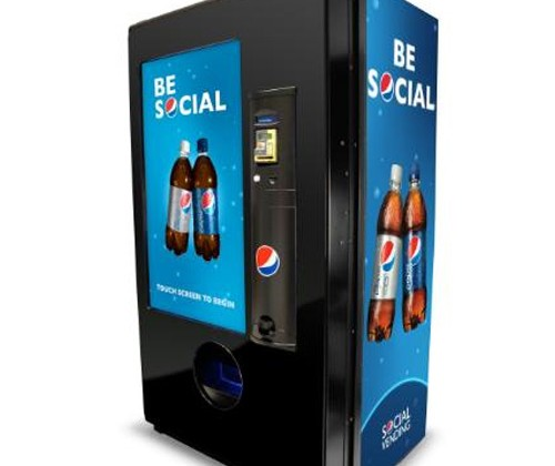 Pepsi Unveils A Social Vending Machine, Gift Drinks To Friends or Strangers Via Touchscreen
