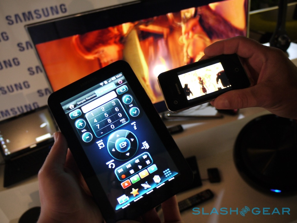 Samsung Smart TV live streaming to Galaxy Tab hands-on
