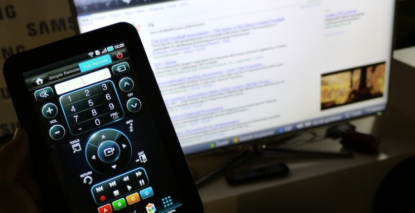 Samsung Smart TV live streaming to Galaxy Tab hands-on [Video]