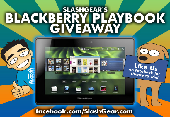 SlashGear BlackBerry PlayBook Giveaway!