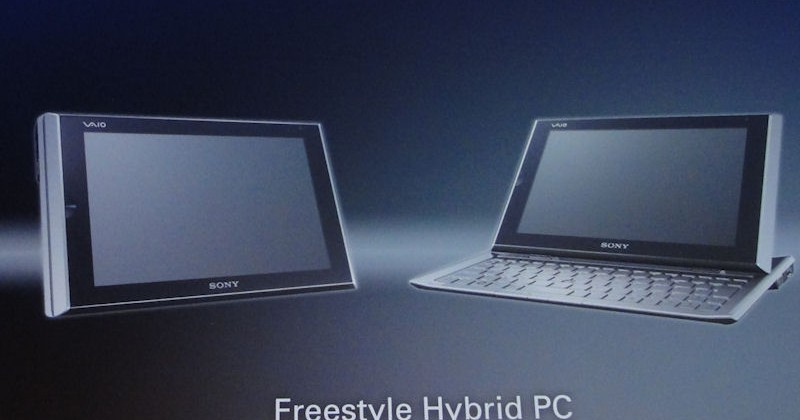 """Sony Freestyle Hybrid PC and """"Ultimate"""" ultraportable notebook previewed"""