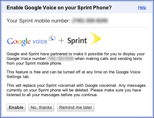 Sprint Google Voice invites arriving early