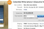 White iPhone 4 prototype hits eBay