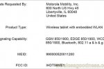 Motorola XOOM crosses FCC, bound for AT&T?