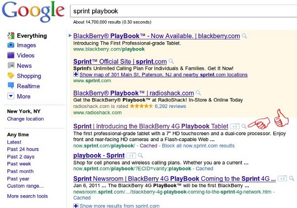 PlayBook 4G WiMAX Version Revealed By Google Search