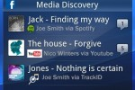 Facebook inside Xperia Media Discovery Widget (3)