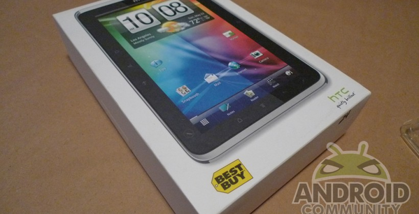 HTC Flyer Hands-On and Unboxing [Best Buy]