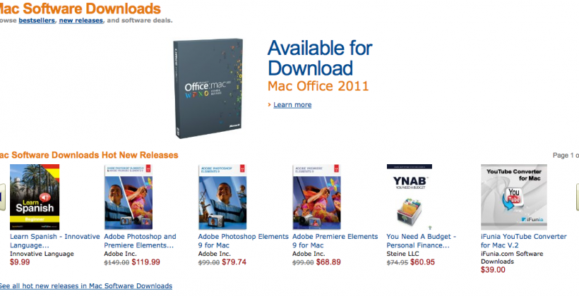 Amazon Launches Mac Download Store, Targeting Apple Mac App Store