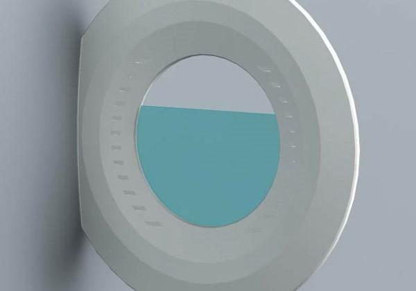 Aqua clock concept looks like Tron's identity disk