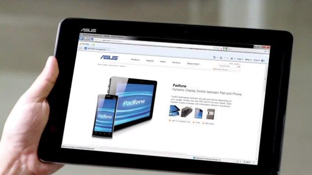 ASUS PadFone runs IE8? [Video gaffe]