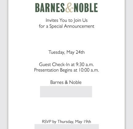 Barnes & Noble May 24 event confirmed: NOOKcolor 3G?