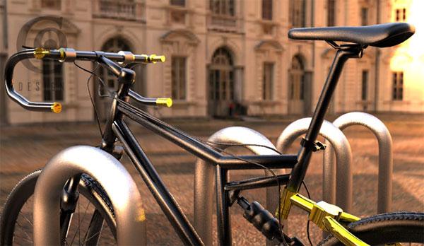 Concept bike has handlebars that turn into a bike lock